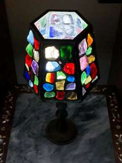 Old Crystal Glass Lamp