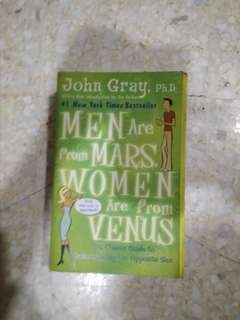 Mens are from Mars, Women are from Venus