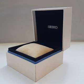 Vintage Seiko, Retro Old Fashion, Rare Seiko Designer Watch Box, Original, Japan, Authentic, Collectables, Seiko Watch Company, Seikosha, Iconic White Box