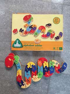 Snake Alphabet and Number Puzzle