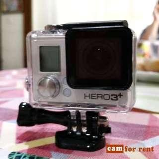GoPro Hero 3+ FOR RENT @ 300/Day (minimum 2 days)