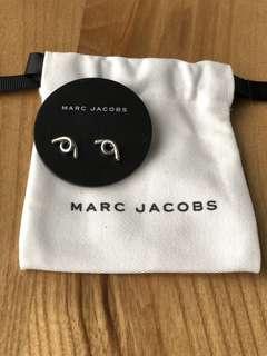 Marc Jacobs Silver Diamond Twist Earrings