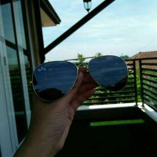Rayban Aviator Flat Lens Sunglasses Shades