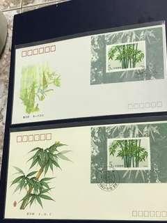 China Stamp- 1993-7 Miniature Sheet A/B FDC
