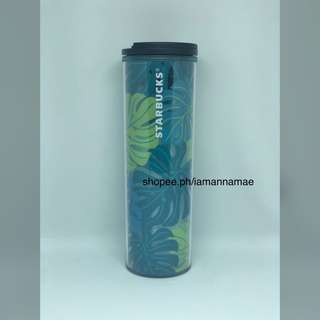 Starbucks Tropical Leaf Acrylic Tumbler