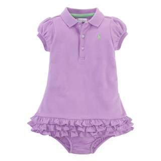 AUTHENTIC N BRAND NEW Ralph Lauren 100% Cotton Baby Girl Cupcake Dress (6 to 24 mths)