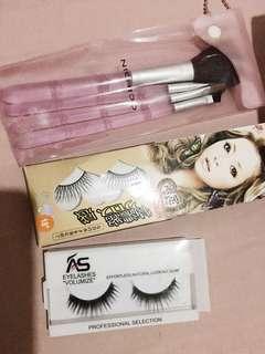 False Eyelashes + free Nichido 4 Brush Set