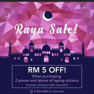 Laptop Sticker / Hari Raya Promotion / Laptop Skin / Laptop Design