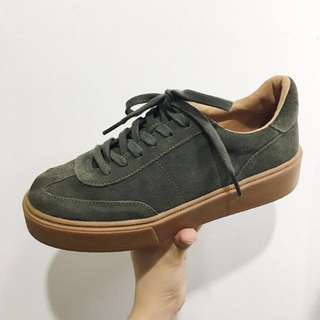 Zara Split Suede Sneakers