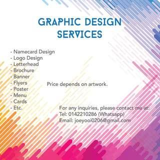 Menu Design / Design Services / Logo Design / Laptop Design / Brochure Design / Flyer Design / Namecard / Business Card