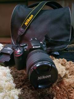 Nikon D3200 Full Set with Lense 18 to 105