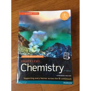 Pearson Baccalaureate Chemistry Higher Level Textbook (IB Diploma) [paperback]