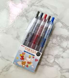 Rare! Made in Japan 🇯🇵 Sarasa Rilakkuma 5 pen set!
