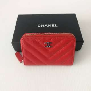 Authentic Chanel Zippy Small Wallet