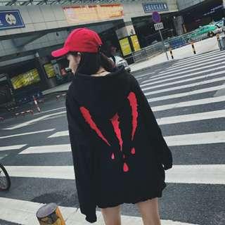 Korea Ulzzang Cool Printed Hoodie
