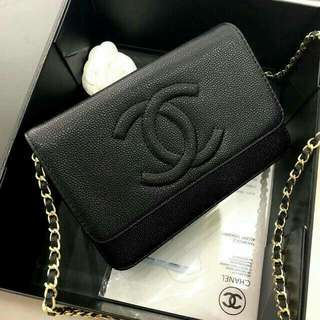 Chanel Timeless WOC Black Caviar