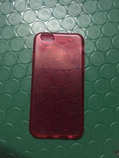 iPhone 6 Case (Clear Red)