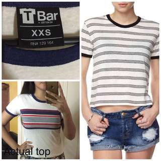 Cotton On T-bar Ringer Top