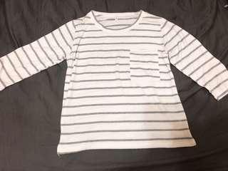🚚 灰色條紋衣
