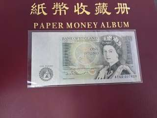 Duit Lama British 1 Pound