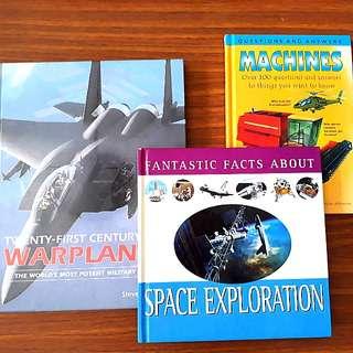 3 for $12: Machines; Fantastic Facts About Space Exploration; Twenty-First Century Warplanes #HariRaya35