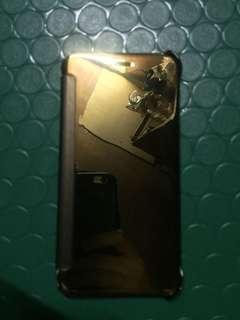 iPhone 6 Plus Case (Mirror Flipcover Gold)