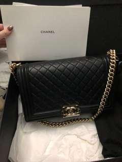 Boy Chanel玫瑰金扣28cm