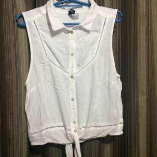 H&M White tie top