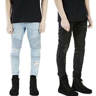 Men's biker jeans