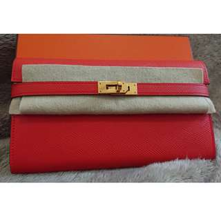 [Brand New] 罕有雙色 Hermes Kelly Wallet