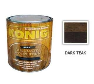 Dark teak wood stain