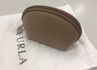 Furla Beige Cosmetic Bag