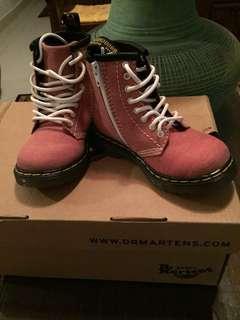 Pink Dr Martens Kids Boot