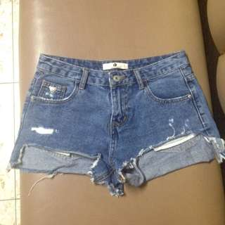 HW High Waisted Denim Shorts