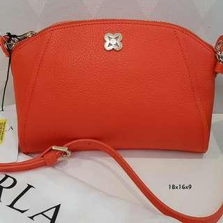 Furla Crossbody Orange sz 18x16x9