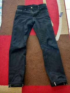 "Celana Denim Selvedge Indigo Black ""Comic Jeans"" 16 oz"
