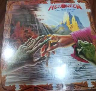 NM vg+ helloween keeper of the seven keys II record vinyl korean press
