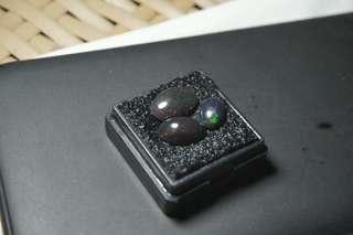 3 Batu Black Opal Banten Full Jarong Siang Malam