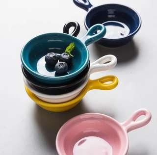 陶瓷单耳酱料碟 <Ceramic Sauce Dish w Handle>