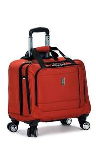 Delsey spinner carry-on tote red
