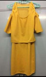 Yellow Nursing Dress