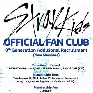 [Purchasing service] Stray Kids Official Fan Club