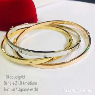 Cartier Tri Color Bangle