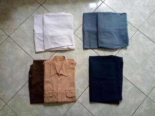 Seragam Sekolah SMP & SMA (Celana Putih, Abu-Abu, & Pramuka)