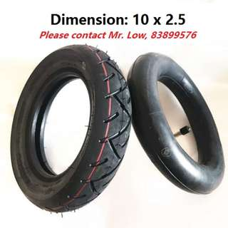 Electric Scooter Inner Tube / Tires (10 Inch)