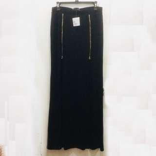 Guess Black Liliana Double Slit Maxi Skirt