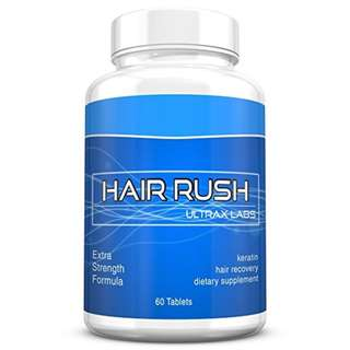 [IN-STOCK] Ultrax Labs Hair Rush DHT Blocking Hair Loss Maxx Hair Growth Nutrient Solubilized Keratin Supplement