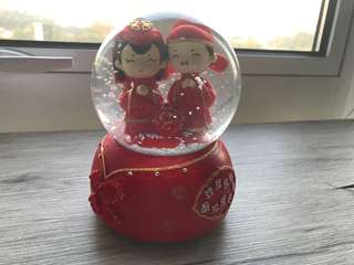 Beautiful Chinese Wedding SnowGlobe