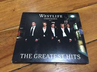 Westlife: Unbreakable Greatest Hits Volume 1 Album Japanese release