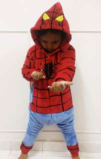 Costume spiderman 7-8 tahun